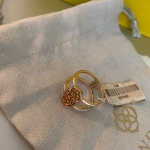 NWT Kendra Scott Elyse Druzy Rose Gold Ring